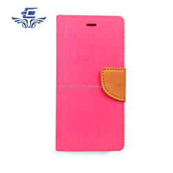 Hot selling Colorful wallet style pu leather case flip cover for alcatel one touch fierce xl