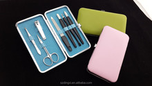 Wholesale 7pcs Stainless Steel Nail Care Personal Manicure Pedicure Set Travel Grooming Kit Clipper
