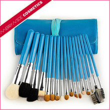 Beauty and personal care makeup tools blue 17 piece natural hair makeup brush set