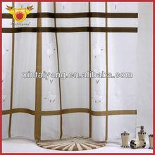Elegante diseño de la raya Hotel de poliéster 100% cortinas baño ducha
