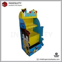 creative cardboard dolls display/ free standing storage cardboard display with drawer