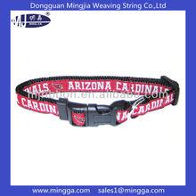 High quality woven logo factory custom dog collar