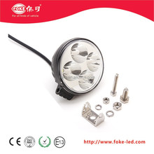 round design 12 Watt LED working light spot light 3 watt/pcs