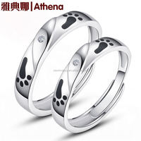 Romantic electroplating gifts for newly married couple korea silver 925 accept paypal lovers ring