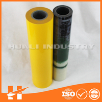 Transparent yellow color removable protection film
