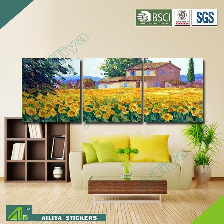 Home decor hotel wall art customized diy modern three for Diy hotel decor