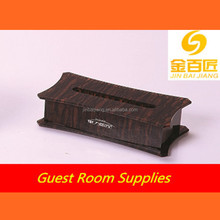 Factory price fabric tissue box covers wooden color tissue box design for car,home,hotel,restaurant,toilet