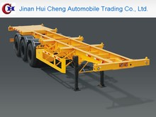 Double axle truck trailer,skeleton semi trailer for 20ft 40ft container transport, container chassis