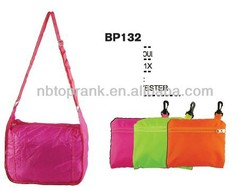 Hot selling cheap nylon foldable shopping bag with low price