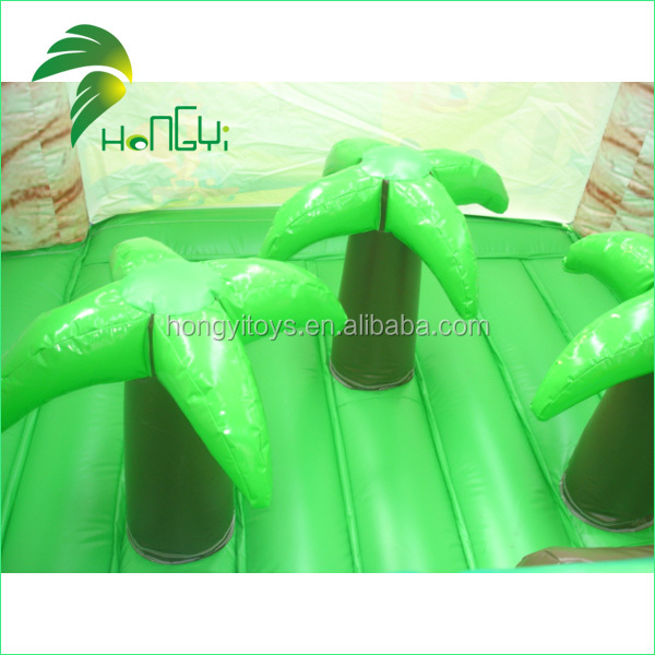 inflatable green slide  (4)