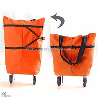 Foldable Container Storage Box Shopping Trolley Bag