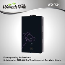 12l white coated panel tankless gas water heater with lpg and nature gas