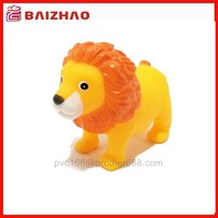 cute rubber plastic lion baby bath toy,squeeze baby bath toys with sound