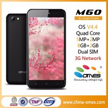 """2.5D Glass Screen OMES M60 5"""" 5 inch IPS High Class Quad Core 1GB Ram 8GB Rom Android 3G dual sim smart phone"""