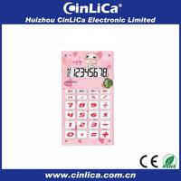 mini cute pretty electronic pink silicone calculator online download CA-608