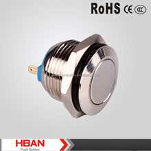 CE ROHS HBGQ16F-10/J /N Momentary Waterproof pushbutton ON-OFF switch