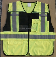 China Protective Clothing Fluorescent Security Jacket with Pockets