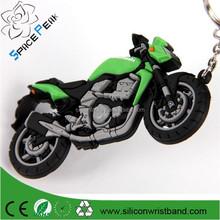 9cm Rubber Motorcycle Keychain Key Ring Fit Kawasaki custom soft pvc Keyring