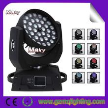 night club decor 36x10w 4in1 ZOOM LED moving head lighting