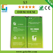 Hot Sale Mobile Phone Battery GB t18287 for Galaxy S5 Battery for Samsung 2800mah S5/I9600 Battery