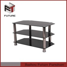 alibaba express three layers modern painting glass TV stands