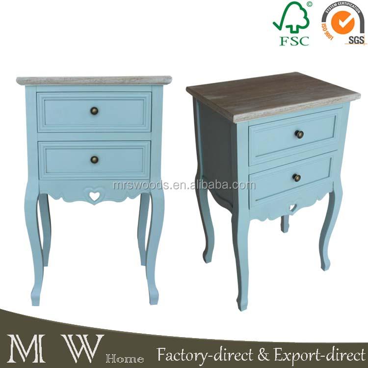 Shabby chic chambre classique europ enne meubles bleu peint en bois table de - Meubles par correspondance ...