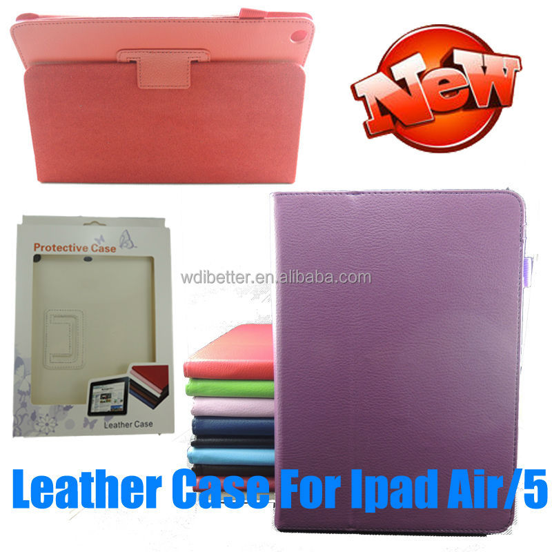2014 Factory Wholesale For ipad Case For ipad Leather Case For ipad Stand Case