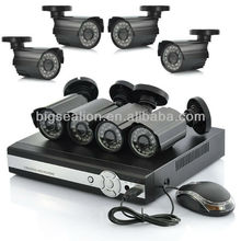 Security DVR Kit H.264 & P2P Software 1200tvl CCD Digital Cctv Camera System