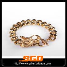 chapado en oro pulsera dragón