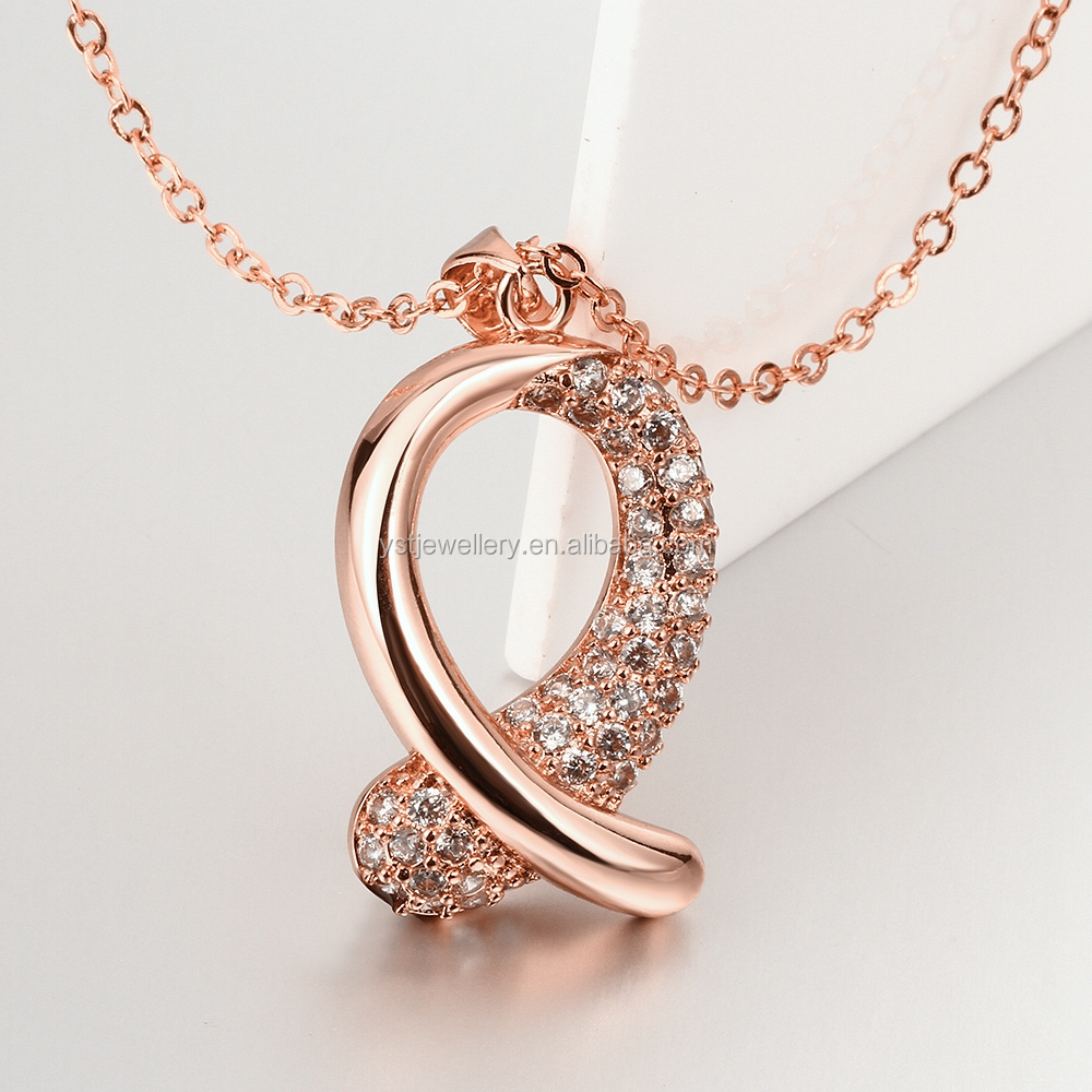 Women female fashion rose gold plated cooper jewelry for Rose gold personalized jewelry