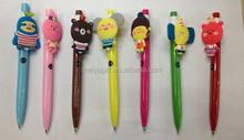 promotional 2015 novelties 3d cartoon character plastic ball pen