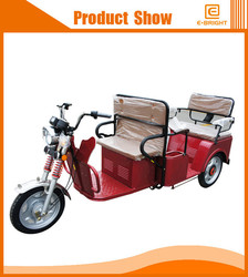 space three wheel closed motorcycle with big cargo cabin