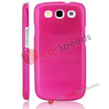 2012 High Quality Net Hole Perforated Metal Case for Samsung Galaxy S3 (Hot Pink)