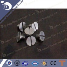 Titanium bolt, titanium screw with countersunk head