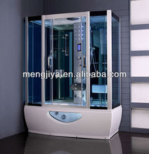Emily hangzou Mengjiya cheap indoor steam room with sliding door wheel bathroom designs generator