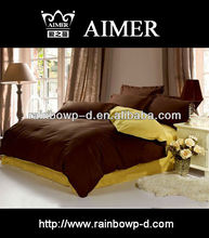 linen quilts comforters by satin colored fabric/Bed Sheet/trade assurance