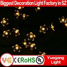 CE ROHS party decorations solar micro led string lights solar powered xmas wreaths led light