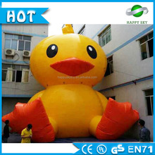 Customized logo printing Giant inflatable duck /advertising yellow duck /inflatable cartoon duck