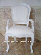 White Antique Furniture - Restaurant Chair - Wooden Dining Chair