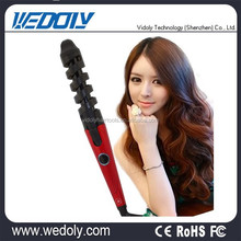 Most popular wave rolling ceramic curling wand