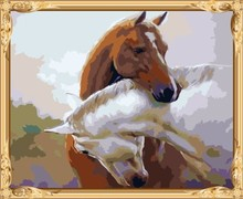abstract wall art horse painting coloring by numbers for home decor GX7559