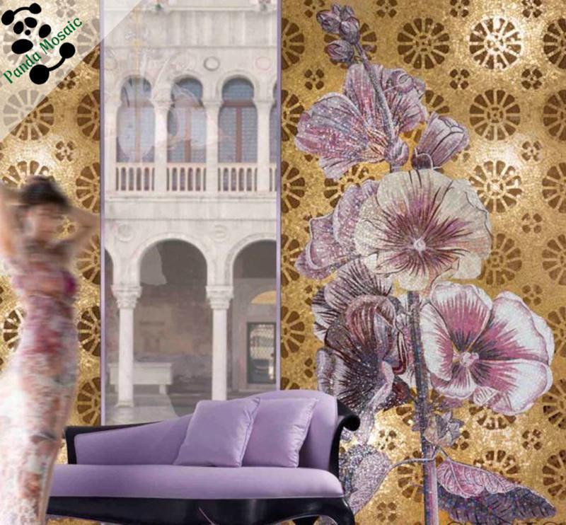 Mb Smm07 Handmade Flower Glass Mosaic Art Decorative Tile China