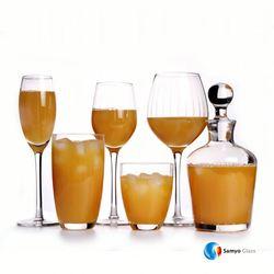 Samyo Glassware Manufacturers Custom Handmade Glass crackle red wine glass