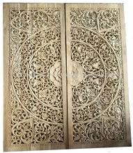 tallado de madera de la pared de paneles