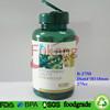 275cc PET plastic health food green round bottle with 45mm flip top cap,PET plastic bottle packaging children vitamin