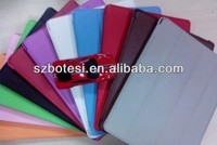 Ultra thin Four folded leather case for ipad mini with various colors