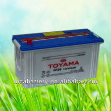 12V100AH Top Quality dry charged Car Battery N100 JIS standard auto battery