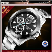 waterproof Reloj de acero inoxidable quartz watch customize man watch