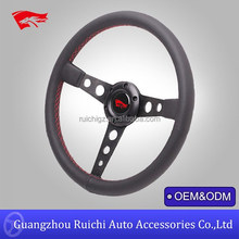 Red Stitching Black Center Spoke USA Competition Drifting Steering Wheels