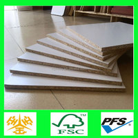 1220x2440mm two sides white melamine particle boards veneered chipboard